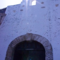 The Door of No Return at Cape Coast Castle. The last view of the castle for slave captives bound for the new world.