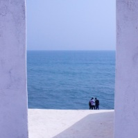 View from the Governor's Quarters at Cape Coast Castle.